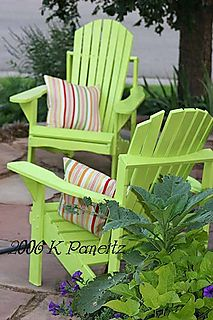 Key lime chairs