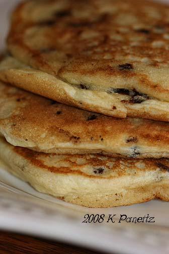 Choc chip pancakes