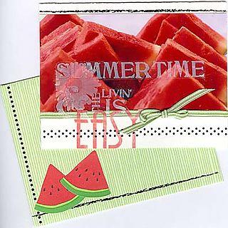 Watermelon photo card
