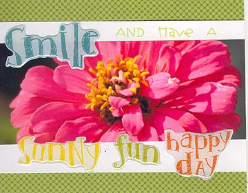 Smile Zinnia Card