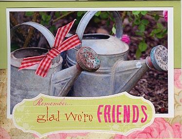 Garden friends photo card