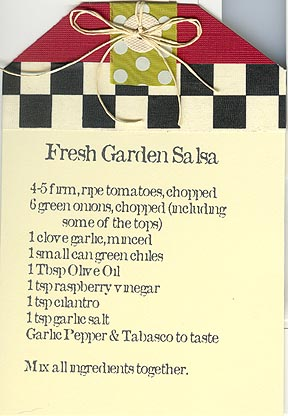 Fresh garden salsa recipe