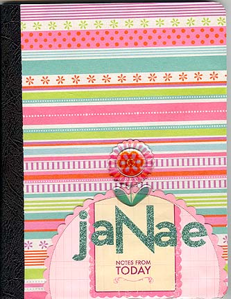Janaes altered school notebook