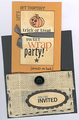 Altered candy bar invite