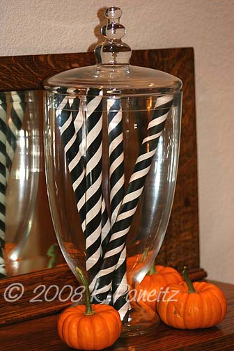 Apothecary jar with b&w sticks