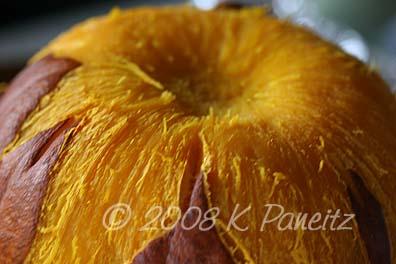 Pie pumpkin cooked