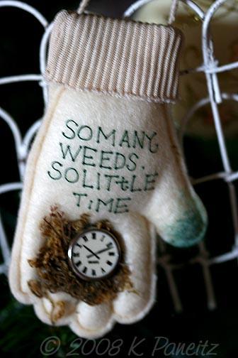 Ornament Gardening glove