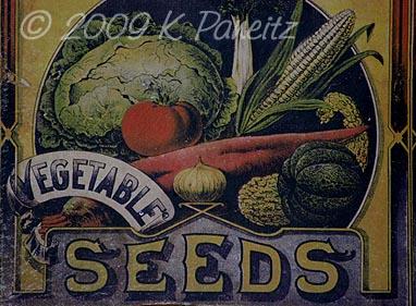 Vintage Seed Plaque