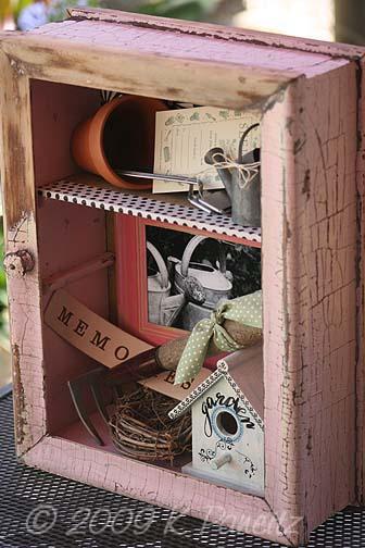 Shabby Pink Garden Shadowbox2