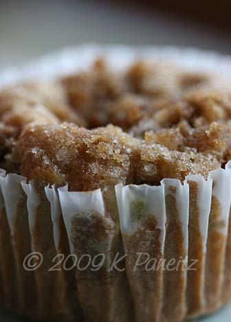 Rhubarb Walnut Muffin
