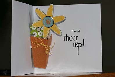 Flowerpot pop up card1