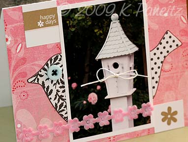 Garden by letter card