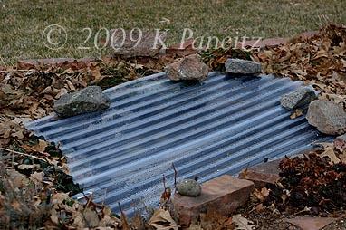 Greenhouse panels on pond