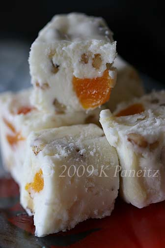 White choc apricot fudge