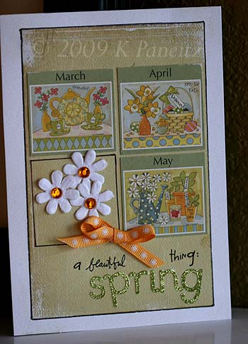 Recycled Calendar Card
