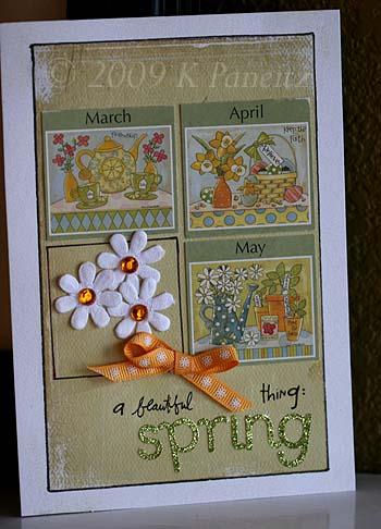 Recycled Calendar Card