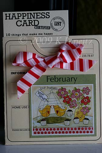Recycled Calendar Pocket