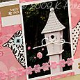 July Garden by Letter card