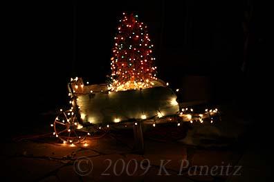 2009 Christmas wheelbarrow