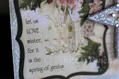 Love winter card