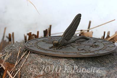 Sundial in snow