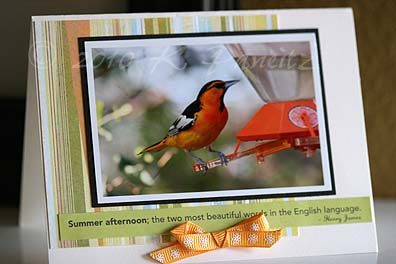 Oriole Photo Card