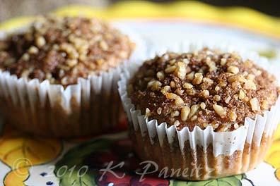Rhubarb Walnut Muffins