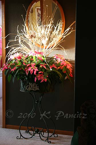 Vintage planter Christmas