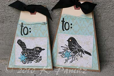 Stamped bird tags