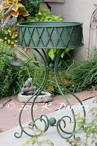 Vintage metal planter