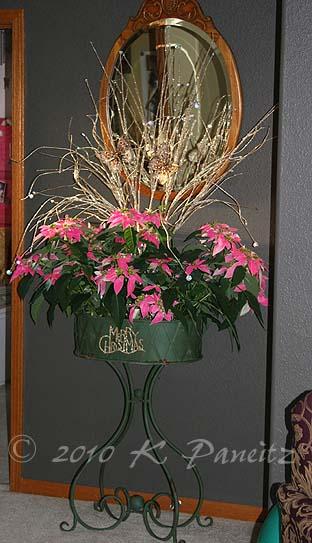 Vintage planter Christmas1