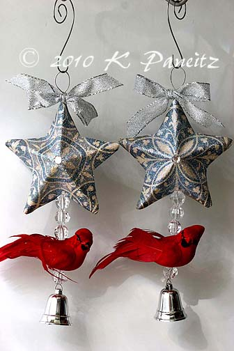 Cardinal Star Ornaments