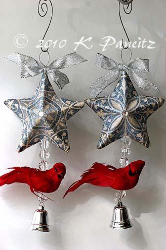 Cardinal Star Ornaments