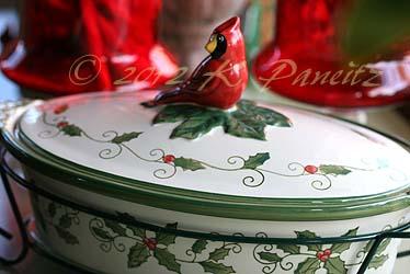 Cardinal dish