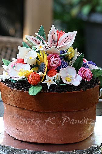 Flower Pot Birthday Cake3