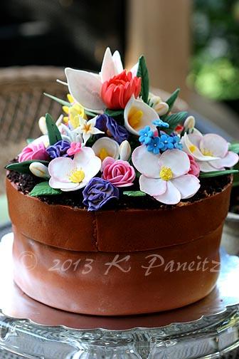 Flower Pot Birthday Cake4
