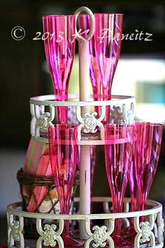 Pink bellini glasses