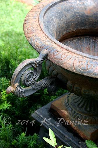 Vintage Black Iron Urn5