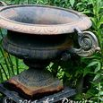 Vintage Black Iron Urn4