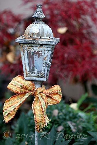 Lantern stake Nov garden