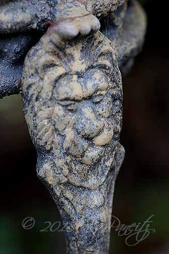 Antique Iron Planter Detail