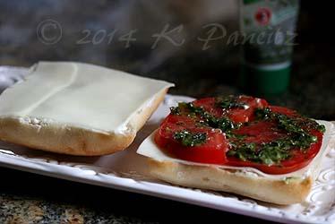 Tomato Mozzarella Basil Ciabatta