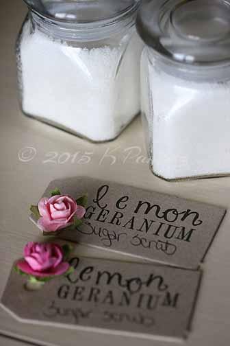 Lemon geranium sugar scrub3