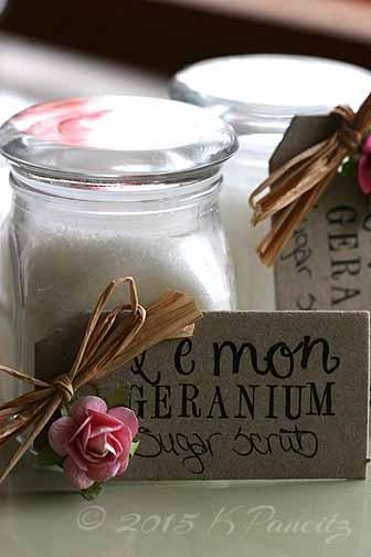 Lemon geranium sugar scrub1