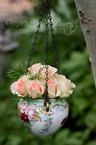 Antique Jardiniere & roses8
