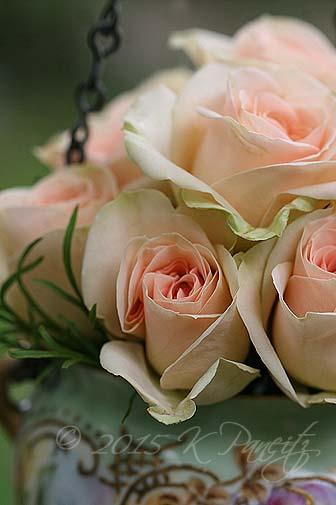 Antique Jardiniere & roses3