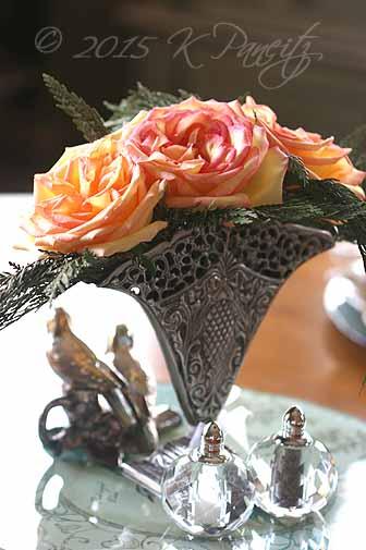 Antique Silver Fan Vase4