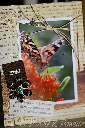 August Gardening by Letter Card