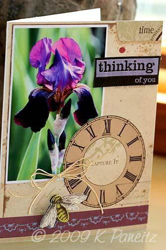 June Garden by Letter Card