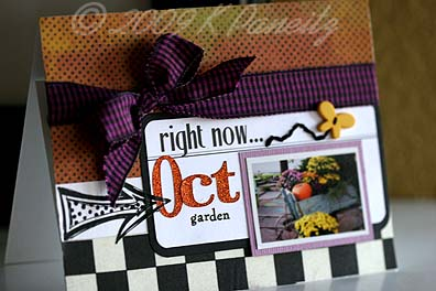 October Gardening by Letter Card